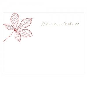 Autumn Leaf Blank Note Cards (Set of 6 - 12 Colors) image