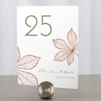Autumn Leaf Table Number Cards (12 Colors)