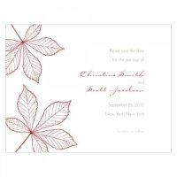 Autumn Leaf Save the Date Cards (Set of 8)