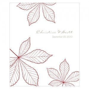 Autumn Leaf Rectangular Stickers (Set of 12) image