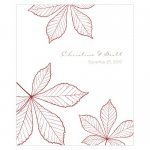 Autumn Leaf Rectangular Stickers (Set of 12)