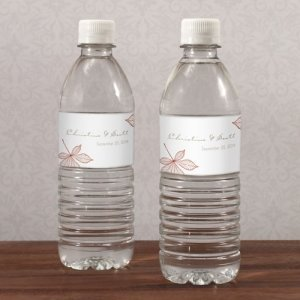 Autumn Leaf Water Bottle Labels (Set of 10) image