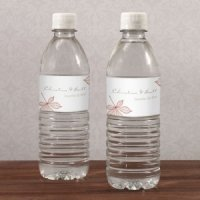 Autumn Leaf Water Bottle Labels (Set of 10)