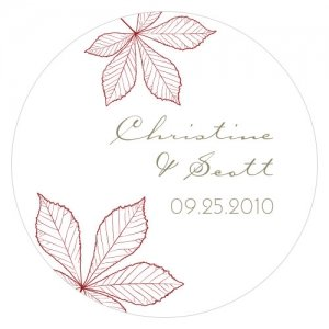 Personalized Autumn Leaf Stickers (12 Colors) image