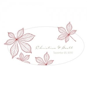 Autumn Leaf Window Cling (2 Sizes - 12 Colors) image