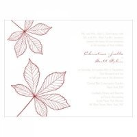 Autumn Leaf Wedding Invites (Set of 4 - 12 Colors)
