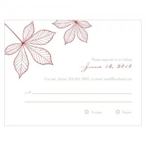 Autumn Leaf RSVP Cards (Set of 8 - 12 Colors) image