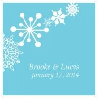 Square Winter Finery Favor Tag (20 Pack - 9 Colors)