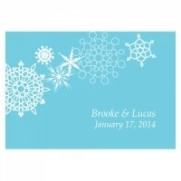 Winter Finery Large Rectangular Tag (Set of 12)