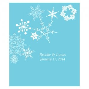 Winter Finery Rectangular Stickers (Set of 12) image