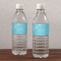 Winter Finery Water Bottle Labels (Set of 10)