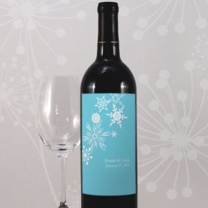 Winter Finery Wine Bottle Labels (Set of 8 - 9 Colors) image