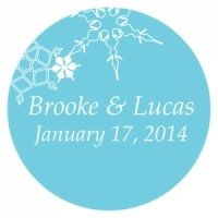 Personalized Winter Finery Stickers (9 Colors)