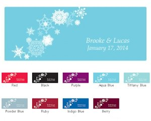 Winter Finery Window Cling (2 Sizes - 9 Colors) image
