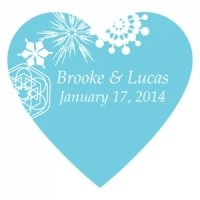 Winter Finery Heart Sticker (9 Colors)