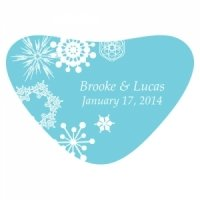 Winter Finery Heart Container Sticker (9 Colors)