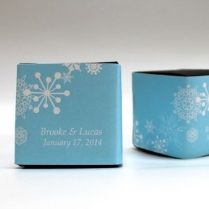 Winter Finery Favor Box Wrap (Set of 20 - 9 Colors) image