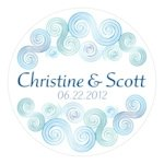 Sea Breeze Personalized Stickers (2 Sizes)