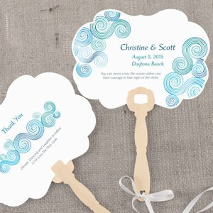 Sea Breeze Personalized Hand Fan image