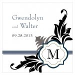 Square Lavish Monogram Favor Tag (Set of 20)