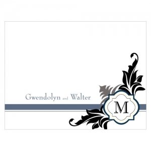 Lavish Monogram Blank Note Cards (Set of 6) image