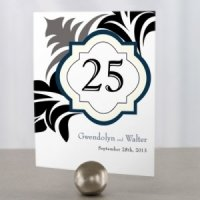 Lavish Monogram Wedding Table Number Cards
