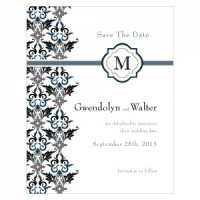 Lavish Monogram Save the Date Cards (7 Colors)