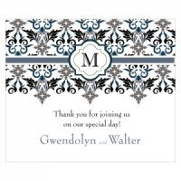 Lavish Monogram Rectangular Stickers (7 Colors)
