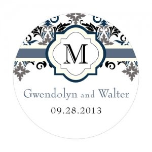 Personalized Lavish Monogram Round Stickers image