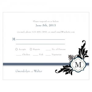 Lavish Monogram RSVP Cards (Set of 8) image