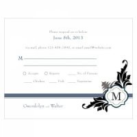 Lavish Monogram RSVP Cards (Set of 8)