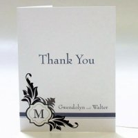 Lavish Monogram Thank You Cards (Set of 6)