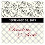 Eclectic Patterns Square Favor Tag (Set of 20 - 6 Colors)
