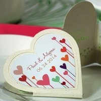 Hearts Within a Heart Shaped Sticker (4 Colors)