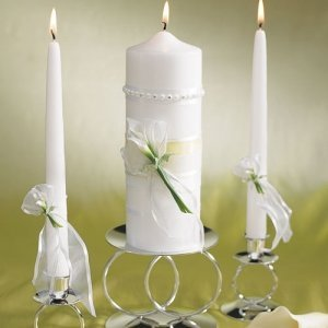 Bridal Beauty Calla Lily Unity Candles image