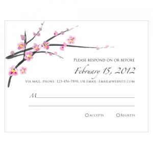 Cherry Blossom RSVP Cards (Set of 8) image