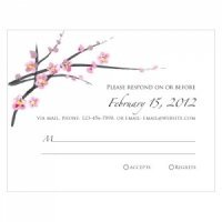 Cherry Blossom RSVP Cards (Set of 8)
