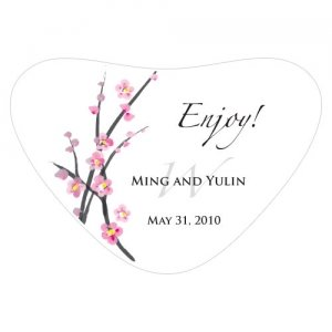 Cherry Blossom Heart Container Sticker image