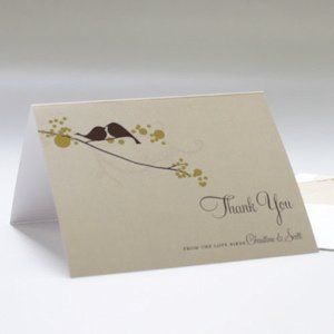 Love Bird Thank You Card (Set of 2 - 4 Colors) image