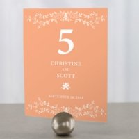 Forget Me Not Personalized Table Number (9 Colors)