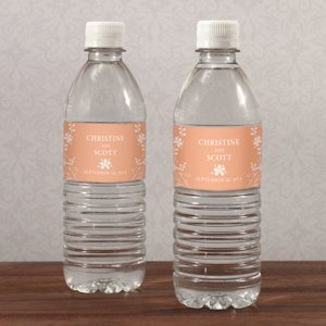 Forget Me Not Personalized Water Bottle Labels image
