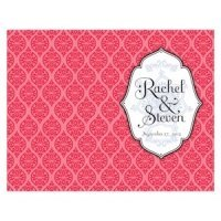 Personalized Moroccan Program Paper (6 Colors)