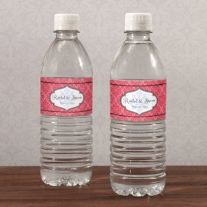Moroccan Personalized Water Bottle Label (6 Colors) image