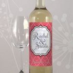 Moroccan Personalized Wine Label (Set of 8 - 6 Colors)