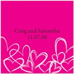 Contemporary Hearts Favor Tag (Set of 20)