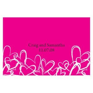 Contemporary Hearts 12 Large Rectangle Tags (15 Colors) image