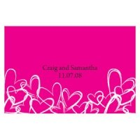 Contemporary Hearts 12 Large Rectangle Tags (15 Colors)