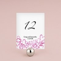 Contemporary Hearts Wedding Table Numbers