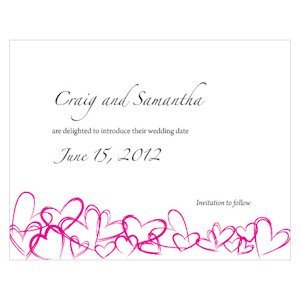 Contemporary Hearts Save the Date Cards image