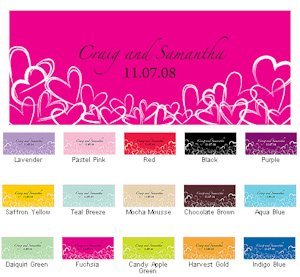 Contemporary Hearts Window Cling (15 Colors) image